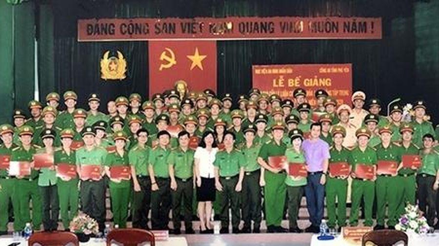 Học viện ANND bế giảng lớp cao cấp lý luận chính trị mở tại Phú Yên