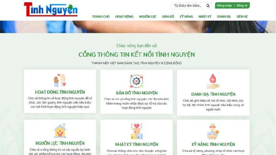 Trung ương Đoàn ra mắt Cổng thông tin kết nối tình nguyện