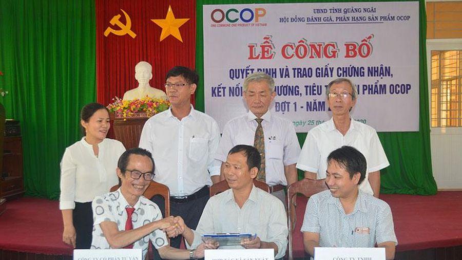 Quảng Ngãi công bố 11 sản phẩm OCOP đạt hạng ba, bốn sao