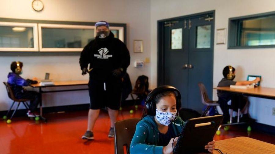 Mỹ: Nhiều học sinh vắng mặt trong lớp trực tuyến