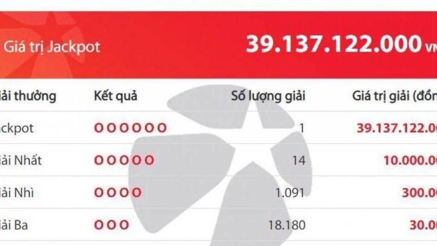 Kết quả xổ số Vietlott 25/9: Một người vừa trúng Jackpot hơn 39 tỷ đồng
