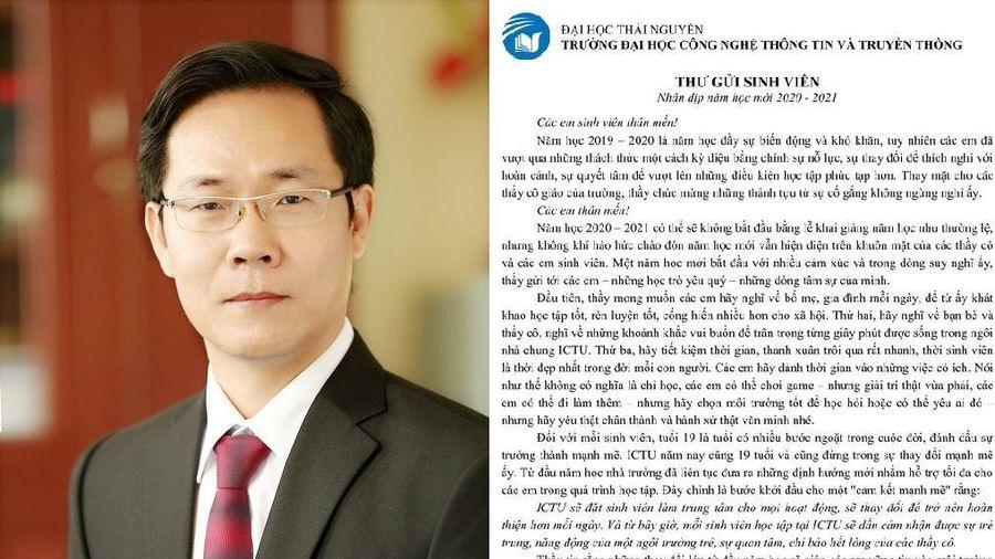 Sinh viên Thái Nguyên được dịp khoái chí khi đọc thư của thầy Hiệu trưởng: 'Các em có thể chơi game hoặc yêu ai đó...'