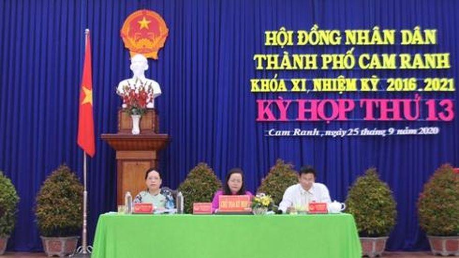 Kỳ họp thứ 13, HĐND thành phố Cam Ranh