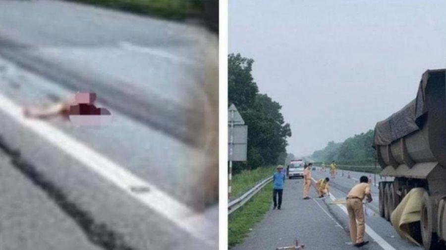 Bị xe đầu kéo cán tử vong sau khi nhảy từ ô tô bán tải xuống đường cao tốc