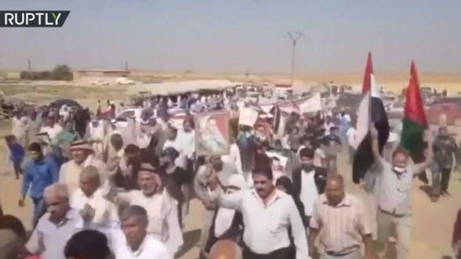Biểu tình phản đối lực lượng Mỹ, Thổ Nhĩ Kỳ hiện diện ở Syria