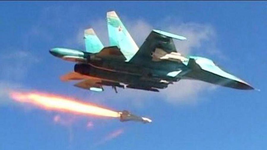 Không quân Nga-Syria phá nát kho vũ khí của khủng bố IS