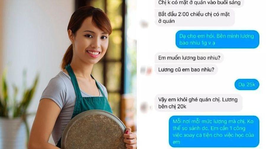 Nữ sinh lịch sự hỏi lương khi xin việc làm thêm nhưng nhận được câu trả lời cực 'gắt' từ nhà tuyển dụng