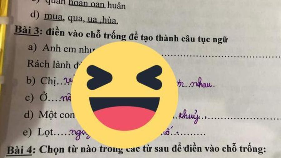 Giáo viên Tiếng Việt 'cạn lời' trước màn điền vào chỗ trống đầy sự ngô nghê của học sinh