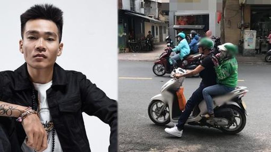 Bắt gặp rapper Wowy đi xe ôm nhưng lại làm tài xế