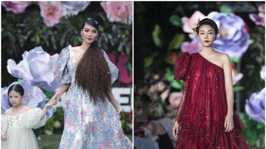 Thanh Hằng, Lan Khuê, Phạm Quỳnh Anh đọ trình catwalk cùng dàn mẫu nhí