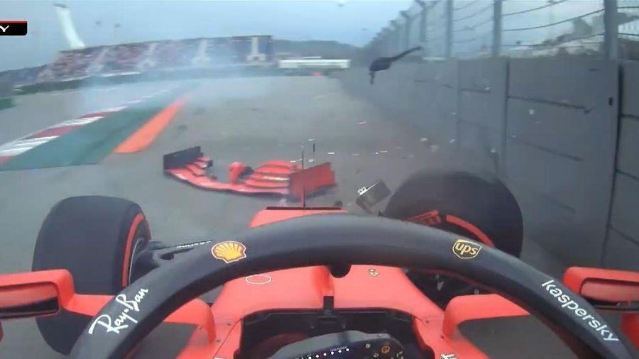 Vettel gặp tai nạn trong buổi phân hạng chặng F1 tại Nga