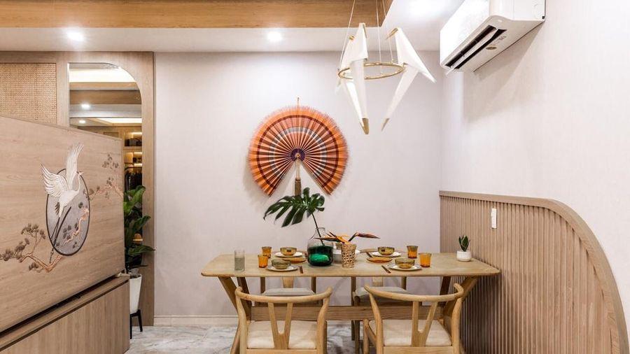 Căn hộ 75 m2 phong cách Á Đông với chất liệu gỗ chủ đạo
