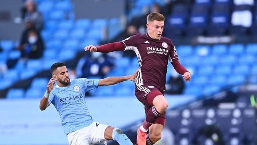 Man City 1-1 Leicester: Vardy gỡ hòa trên chấm 11 m