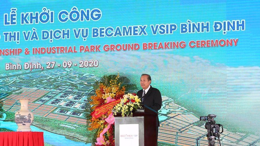 Khởi công Khu công nghiệp-đô thị-dịch vụ Becamex VSIP Bình Định