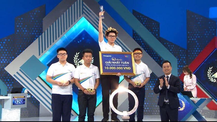 Nam sinh Quảng Ninh lội ngược dòng giành vòng nguyệt quế Olympia 21 tuần đầu tiên