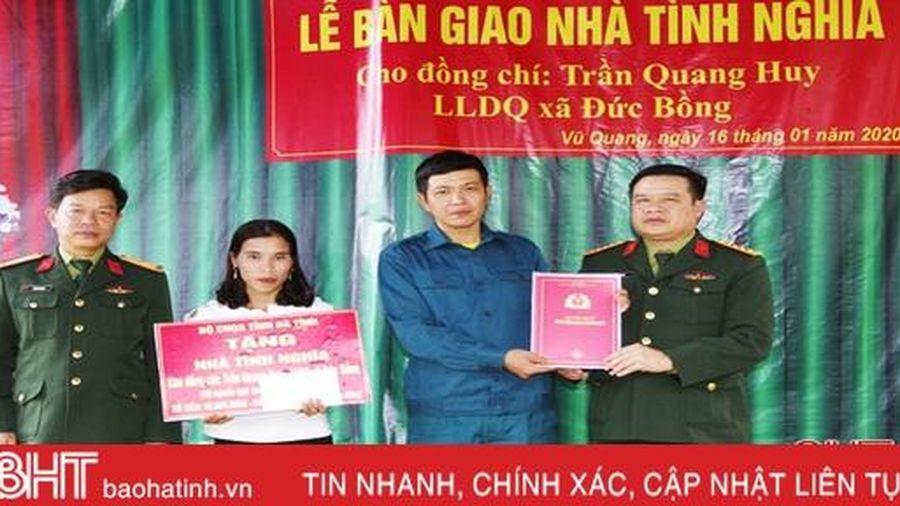 Nhân rộng mô hình 'Ngôi nhà 10.000 đồng' cho dân quân, tự vệ ở Hà Tĩnh