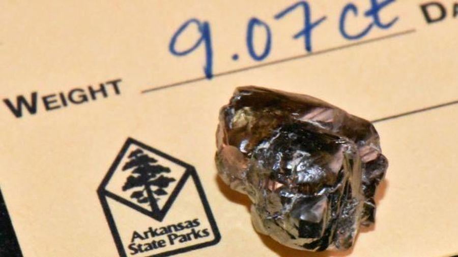 Vô tình nhặt được kim cương 9 carat khi đi dạo công viên