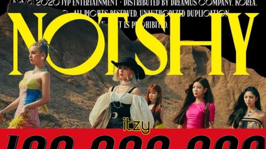 Not shy của ITZY đạt 100 triệu view, trở thành MV nhanh nhất của nhóm đạt được thành tích này