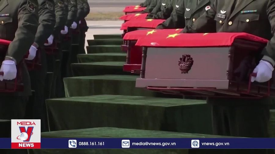 Hàn-Trung tổ chức lễ trao trả 117 bộ hài cốt quân nhân