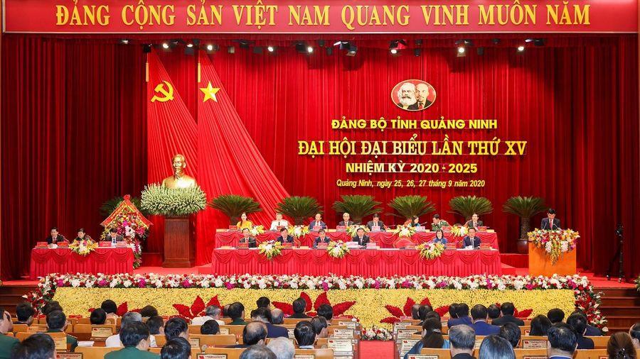 Đại hội Đại biểu Đảng bộ tỉnh Quảng Ninh lần thứ XV bắt đầu phiên bế mạc