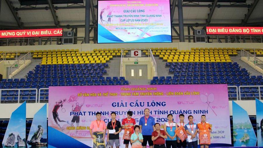 Hạ Long nhất toàn đoàn Giải cầu lông PTTH Quảng Ninh- Cup Lotus 2020