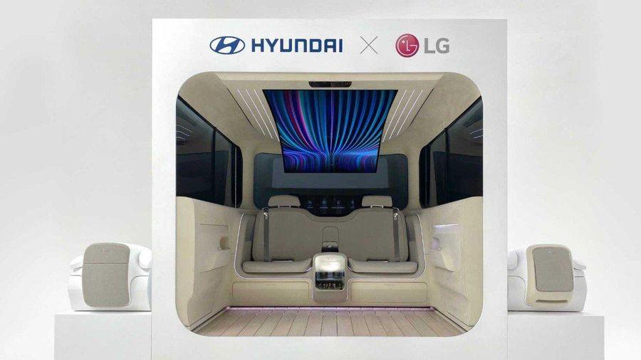 Hyundai kết hợp cùng LG ra mắt khoang cabin Ioniq Concept với thiết kế tương lai