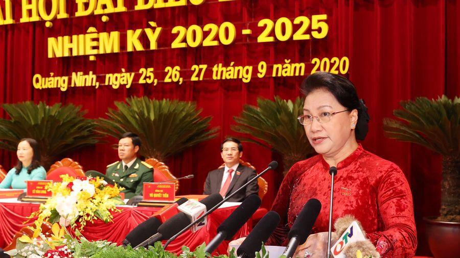 CHỦ TỊCH QUỐC HỘI NGUYỄN THỊ KIM NGÂN DỰ ĐẠI HỘI ĐẠI BIỂU ĐẢNG BỘ TỈNH QUẢNG NINH KHÓA XV, NHIỆM KỲ 2020-2025