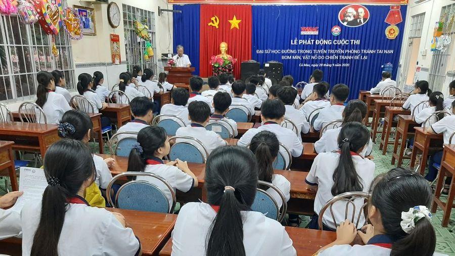 Cà Mau: Phát động cuộc thi 'Đại sứ học đường trong tuyên truyền phòng tránh tai nạn bom mìn, vật nổ do chiến tranh để lại'