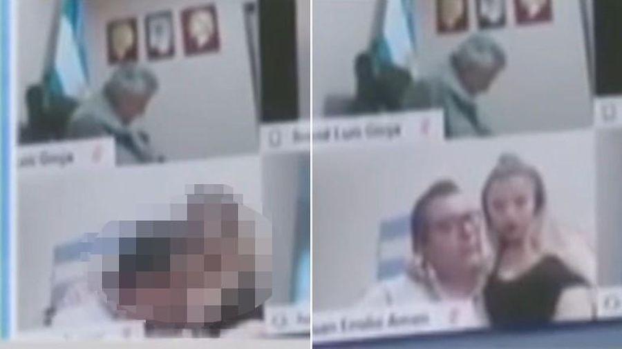 Nghị sĩ Argentina mất chức vì hôn ngực người tình giữa lúc họp trực tuyến