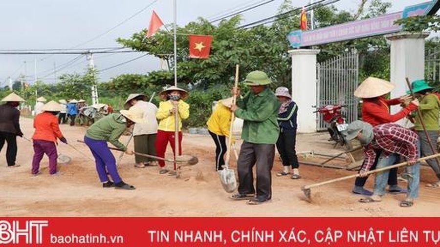 '60 ngày cao điểm xây dựng nông thôn mới' ở huyện miền núi Hà Tĩnh