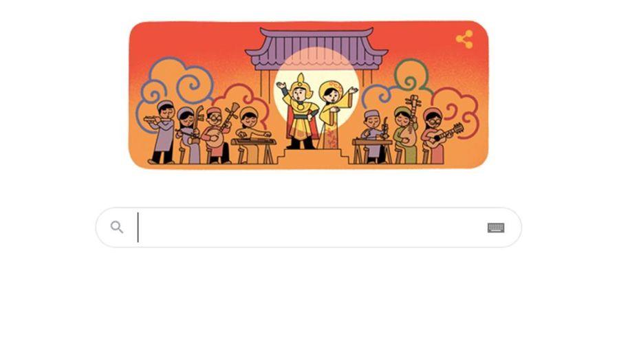 Google đổi biểu tượng kỉ niệm ngày Sân khấu Việt Nam