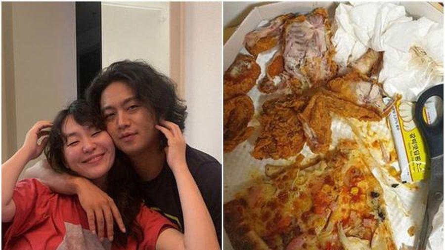 Chồng sao nữ xứ Hàn để phần thức ăn cho vợ trông không khác gì đồ thừa, rác