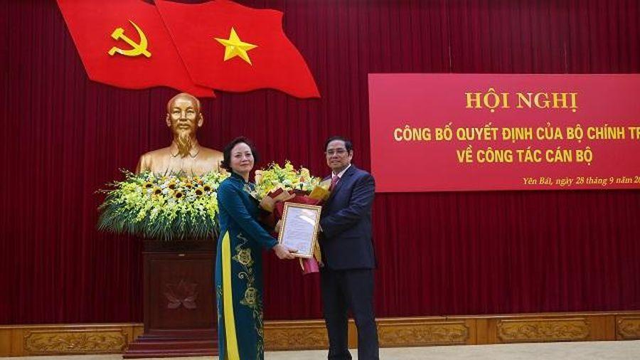 Đồng chí Phạm Minh Chính, Ủy viên Bộ Chính trị, Bí thư Trung ương Đảng, Trưởng Ban Tổ chức Trung ương làm việc tại tỉnh Yên Bái