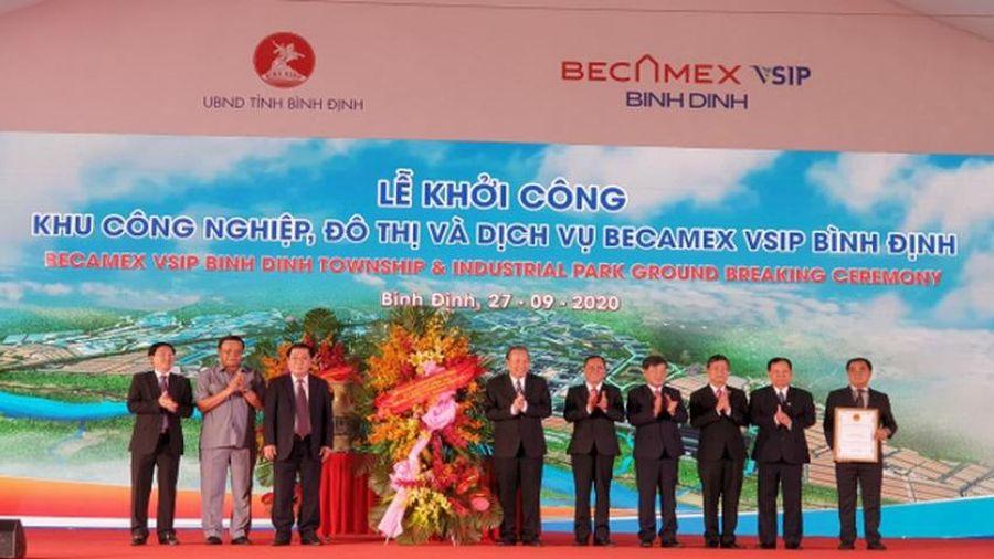 Khởi công Khu công nghiệp, đô thị và dịch vụ Becamex VSIP Bình Định