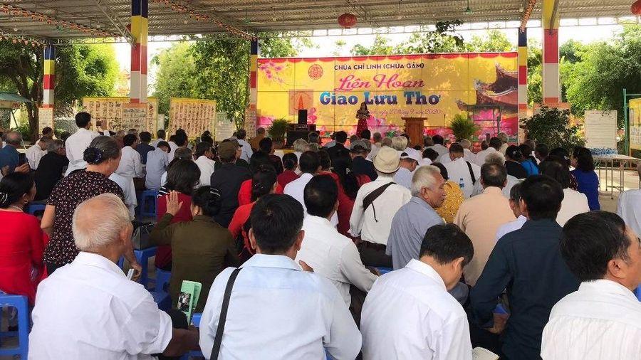 Giao lưu thơ tại chùa Chí Linh