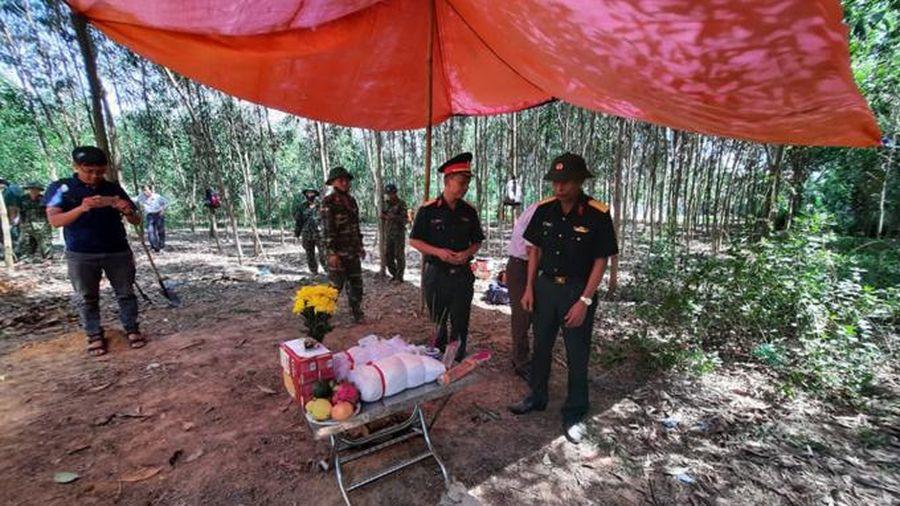 Phát hiện 4 hài cốt liệt sĩ trong rừng tràm