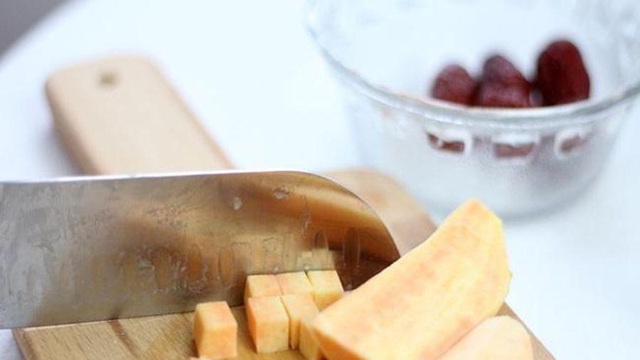 Chè khoai lang táo đỏ đẹp da, chống cảm cúm, ăn 1 bát lại muốn ăn 2