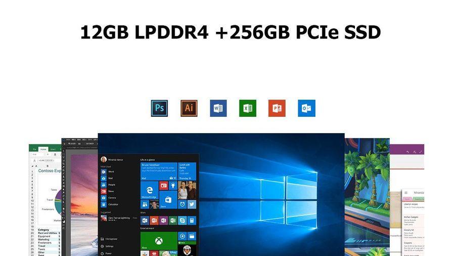 PC bỏ túi: RAM 12 GB LPDDR4, 2 ổ cứng, chip Intel thế hệ 10, giá mềm