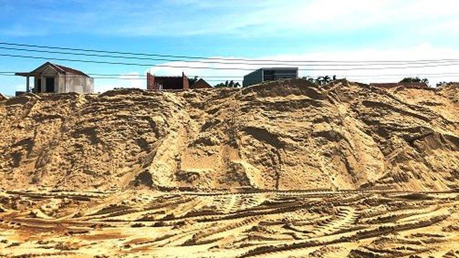Sau kiểm tra, bãi trữ cát khủng trái phép vẫn 'án binh bất động'