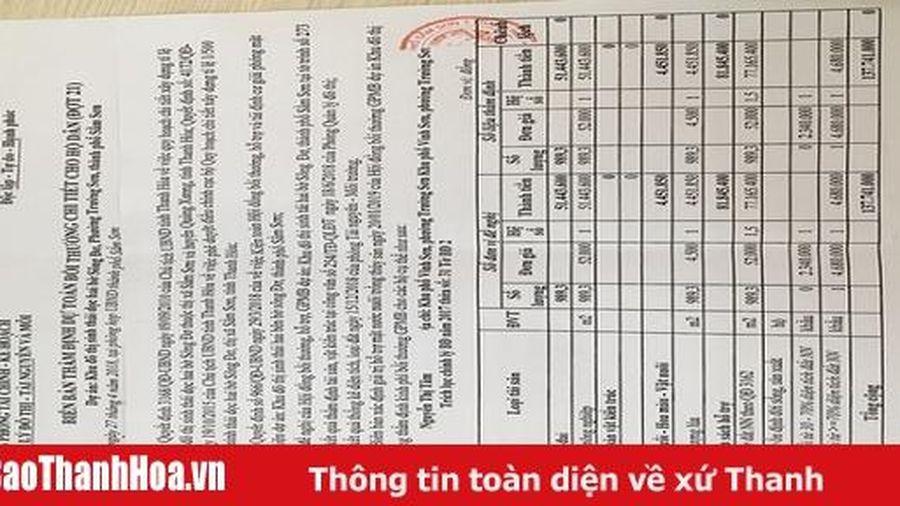 UBND TP Sầm Sơn trả lời đơn của bà Nguyễn Thị Tâm về công tác bồi thường GPMB