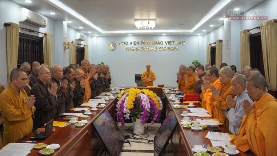 Học viện Phật giáo VN tại TP.HCM họp mở rộng