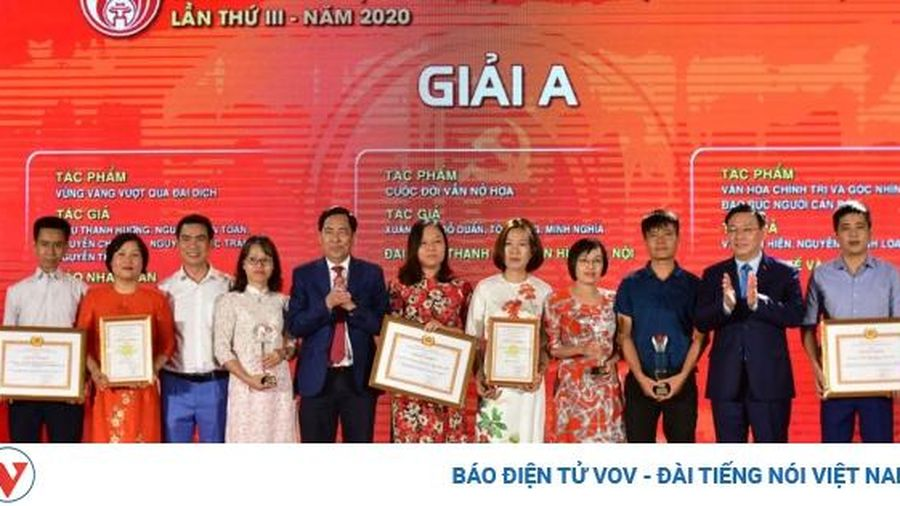 Hà Nội: Trao 2 giải báo chí về xây dựng Đảng và phát triển văn hóa lần thứ III