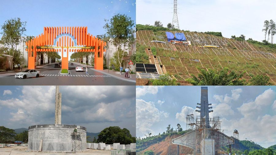 Những công trình tượng đài, khẩu hiệu tiền tỷ xôn xao dư luận