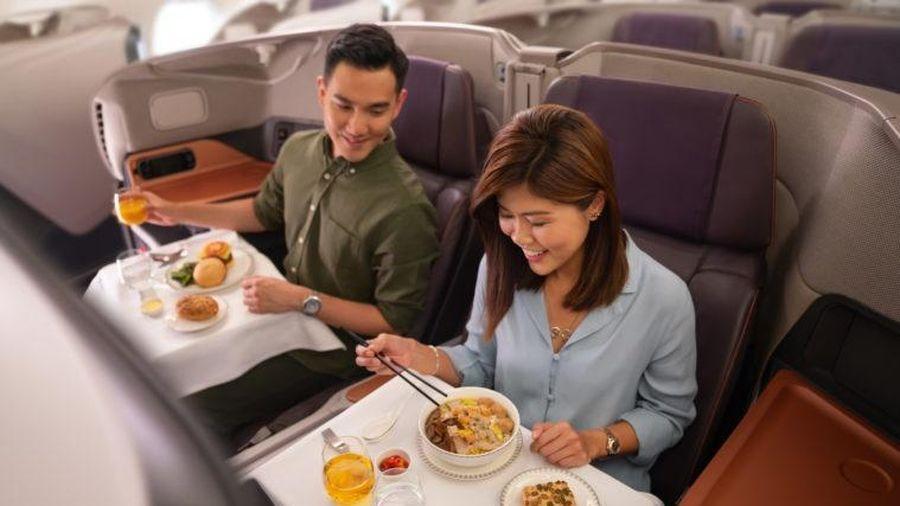 Singapore Airlines biến máy bay thành nhà hàng giữa Covid-19