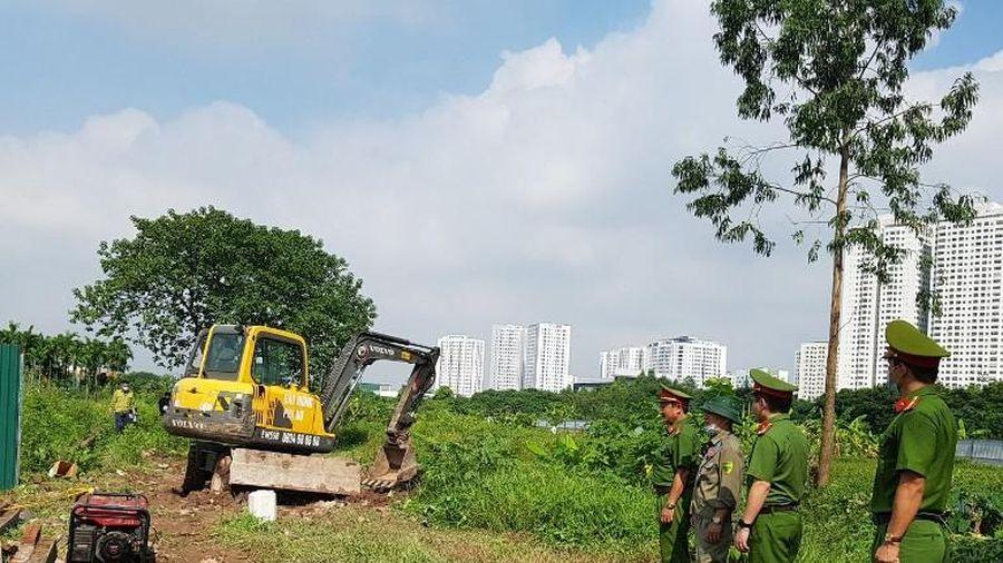 Quận Hoàng Mai cưỡng chế GPMB xây dựng trường học