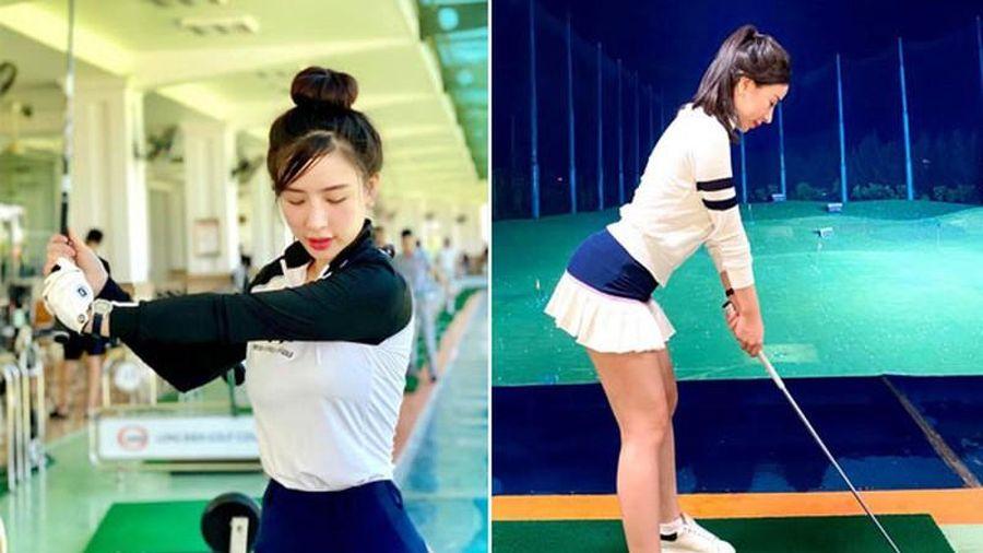 Hotgirl Hà Thành khiến cả sân golf 'dán mắt' vì body nuột nà