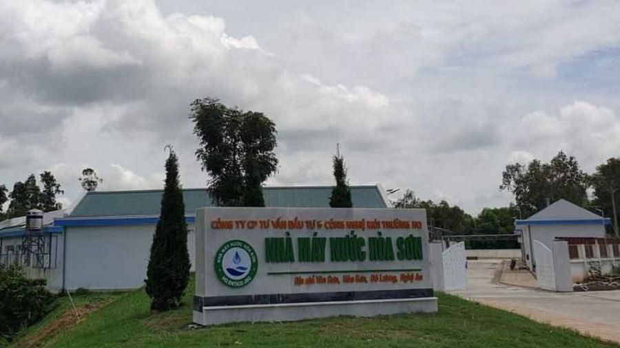 Nước sạch Nhà máy nước Hòa Sơn về với 10 xã của huyện Đô Lương