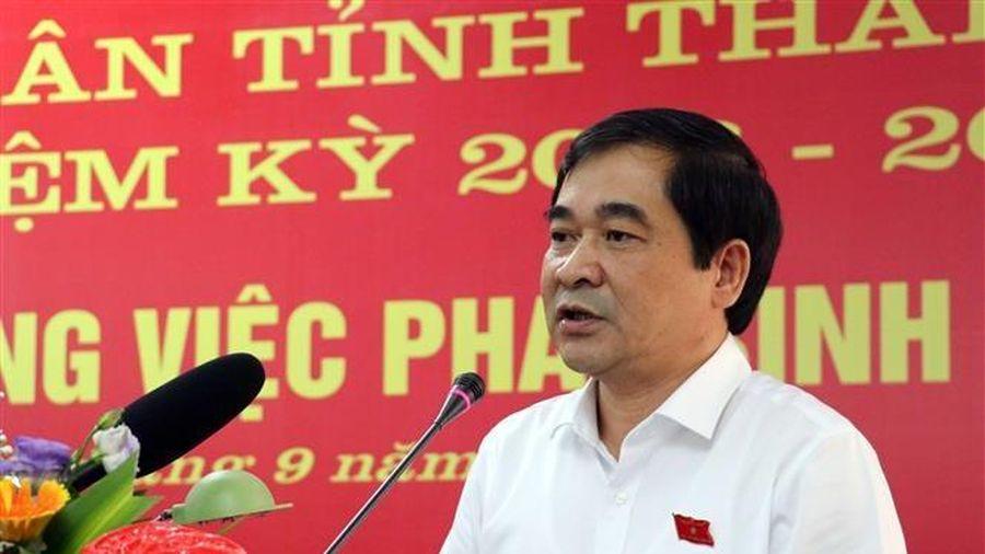 Hội đồng Nhân dân tỉnh Thái Bình họp giải quyết công việc đột xuất