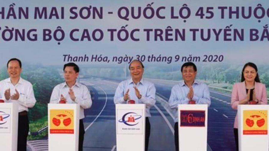 Đồng loạt khởi công 3 dự án thành phần của cao tốc Bắc - Nam