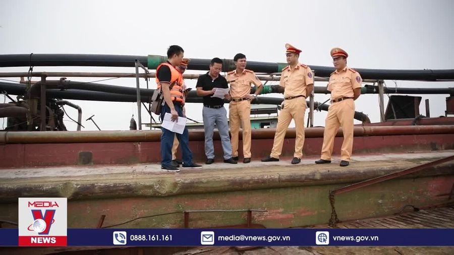 Cảnh sát đường thủy phát hiện hơn 500.000 m3 cát trái phép